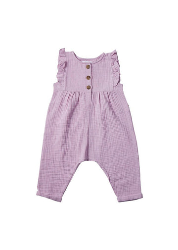 Emma Ruffle Jumpsuit - Lilac jumpsuit Giggle