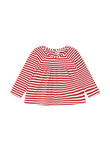 Long Sleeve Striped Top - Red Stripe Top Mayoral