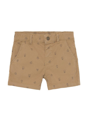 Khaki Shorts with Dogs Shorts Mayoral