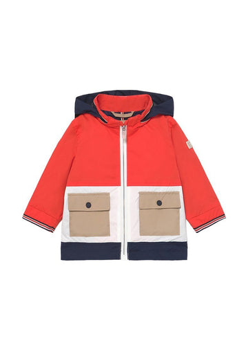 Color Blocked Windbreaker Outerwear Mayoral