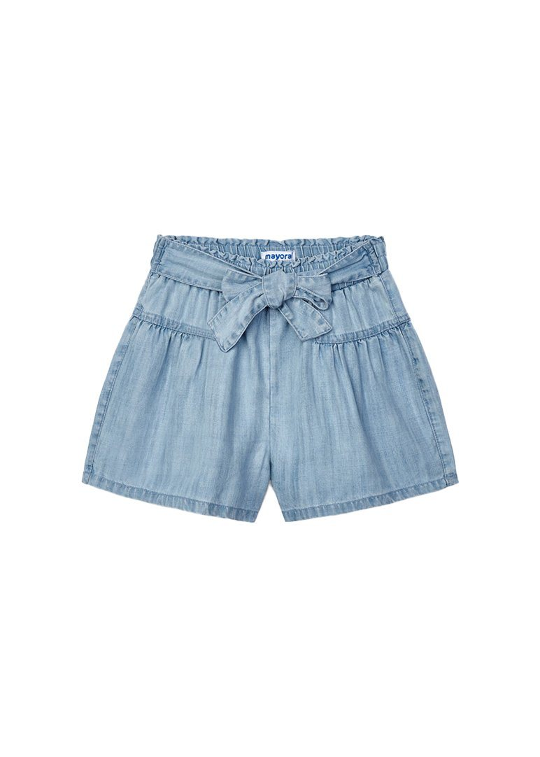 Tie Front Short - Chambray Shorts Mayoral