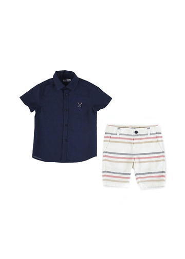 button down set with stripe shorts Set Mayoral