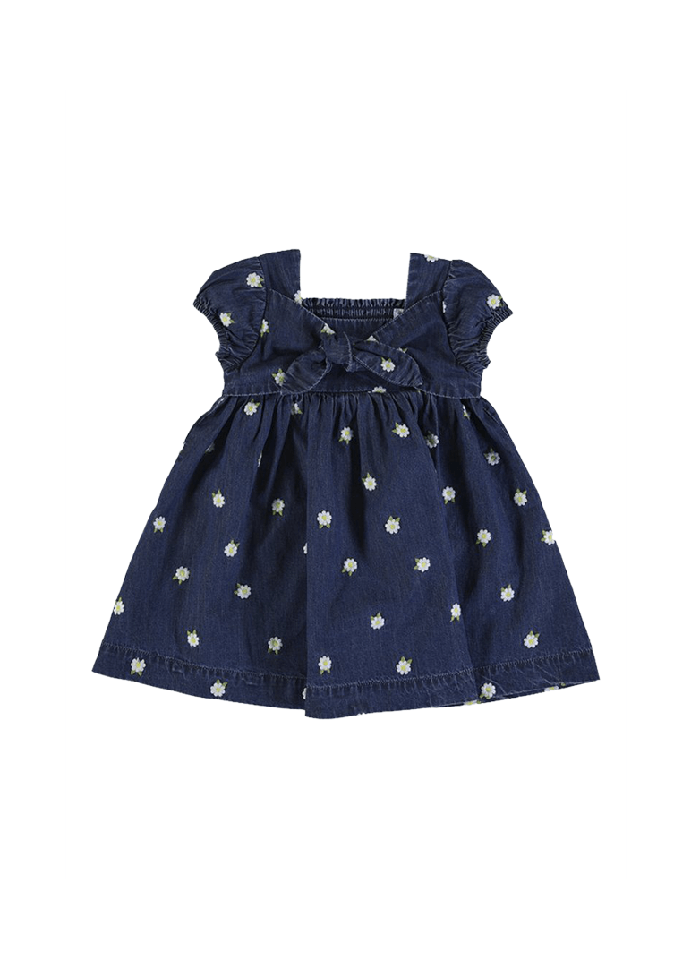toddler denim dress with flowers Dress Mayoral