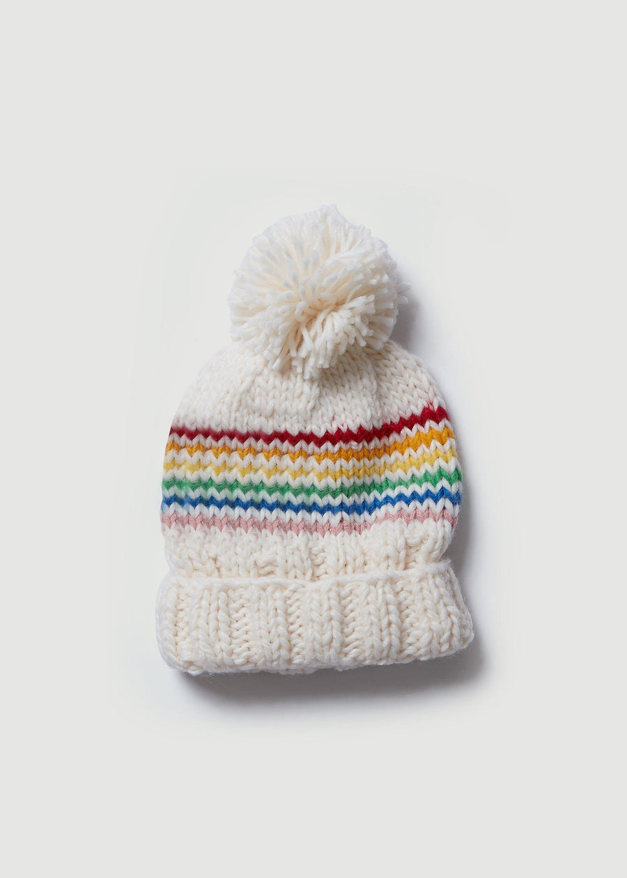 Reagan Rainbow Beanie Accessory The Blueberry Hill 12-24M Multi