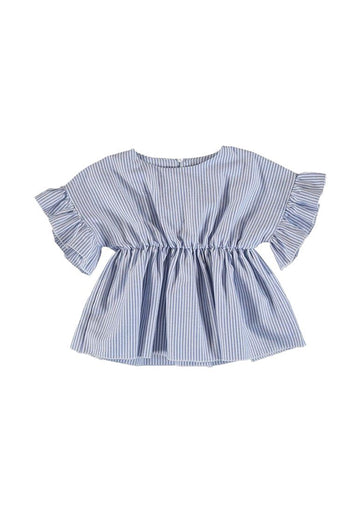 Stripe Ruffle Pleat Top Top Mayoral