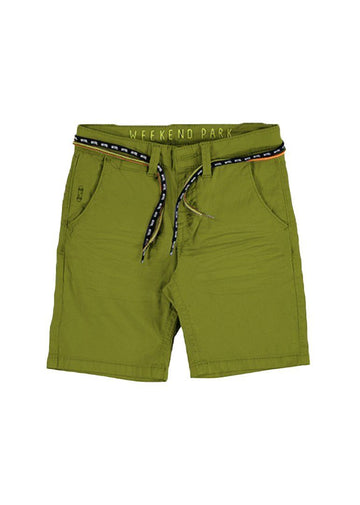 Pullon Bermuda Short With Cord Details -Green Shorts Mayoral