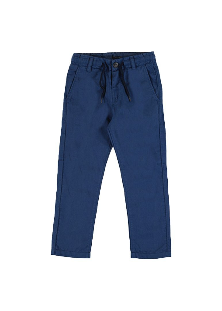 Linen Twill Draw String Pants - Navy Pants Mayoral