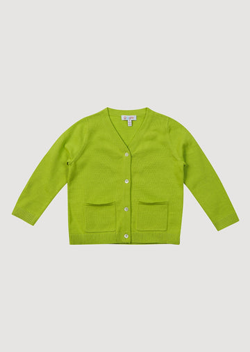 Hazie Cardigan - Lime Green Sweater giggle 12m LimeGreen