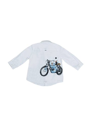 biker button down Top Mayoral