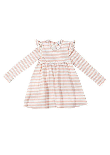 Reagan Stripe Dress - Pink Dress Giggle