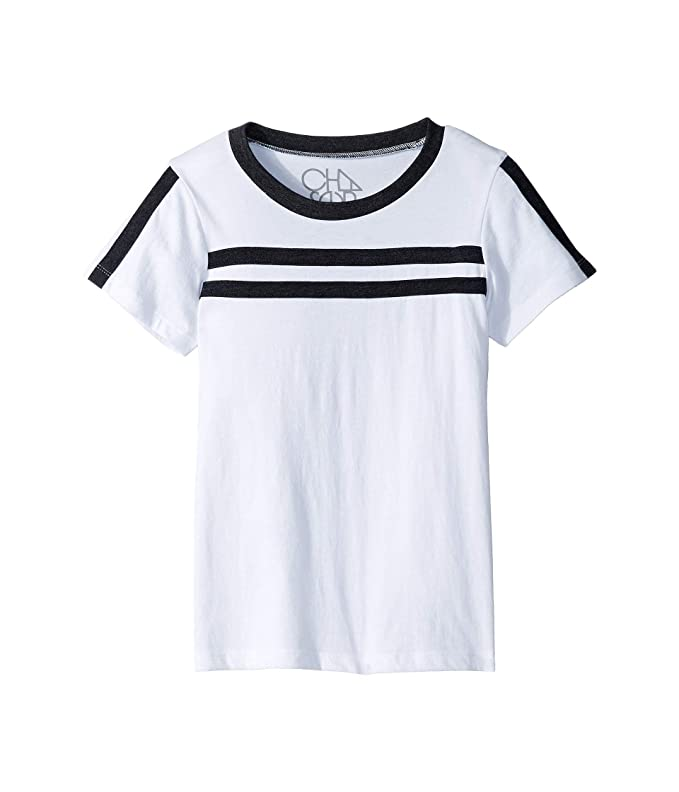 White and Black Stripe Shirt Tee Chaser