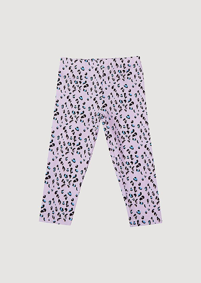 Poppy Cotton Crop Legging - Leopard Print Bottom Giggle 3M LightPink