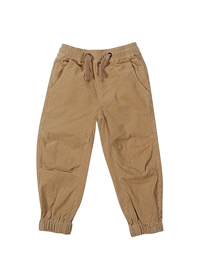Henry Cord Drawstring Bomber Pant - Wheat Bottom Giggle