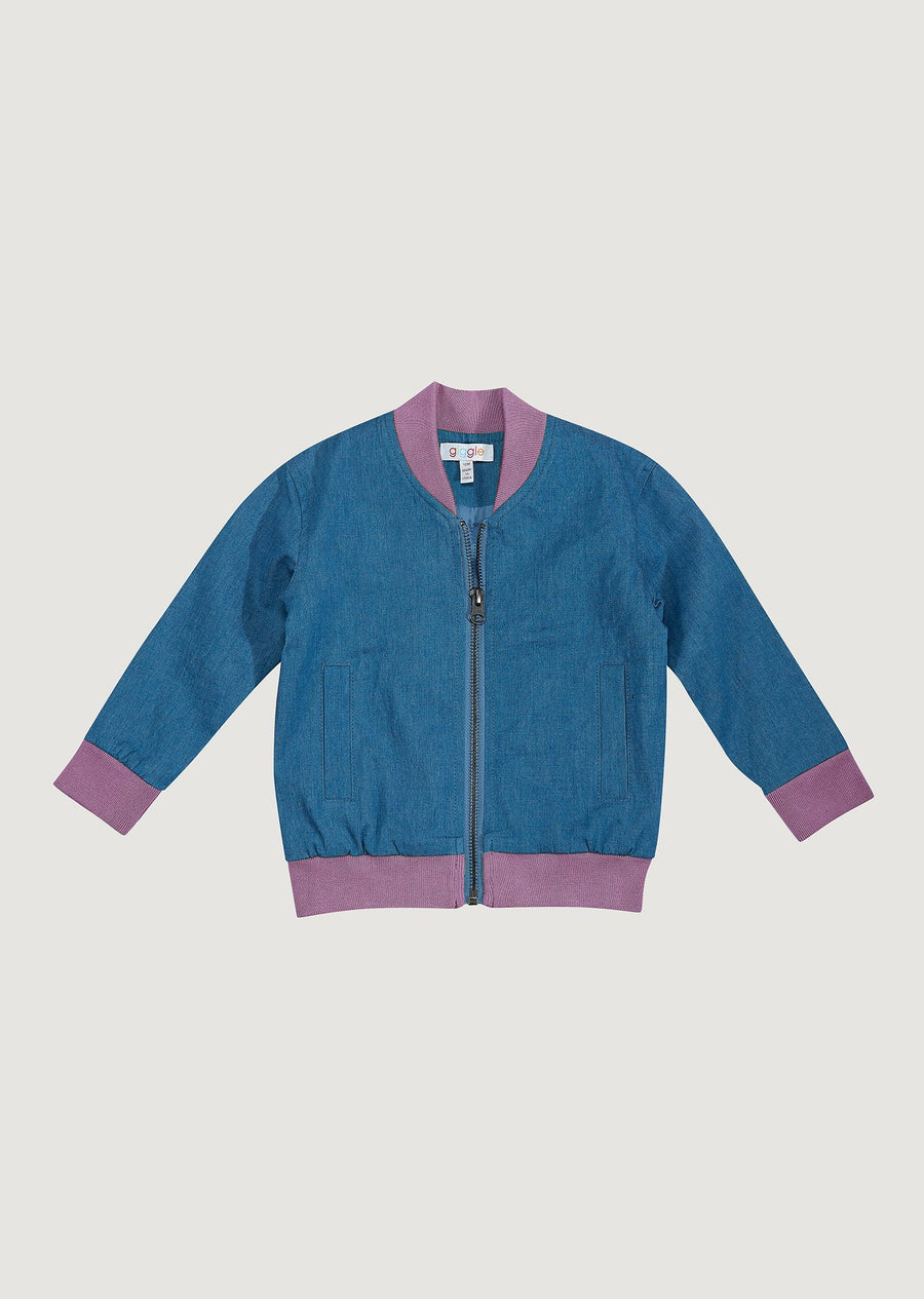 Riley Varsity Jacket - Purple Outerwear Giggle 12m MediumPurple