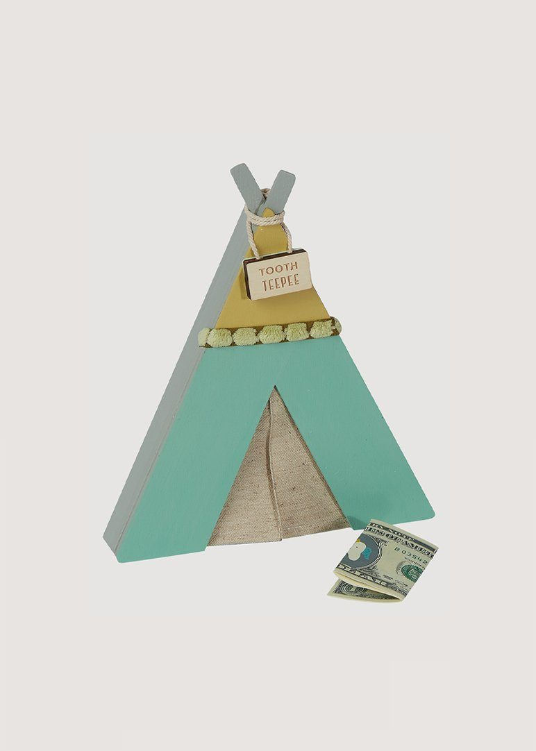 Green Tooth Teepee Accessory Tree by Kerri Lee