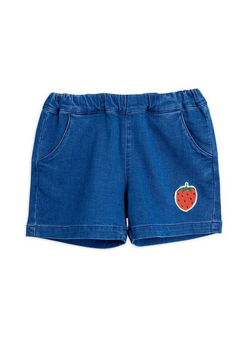 Denim Strawberry Shorts Shorts Mini Rodini