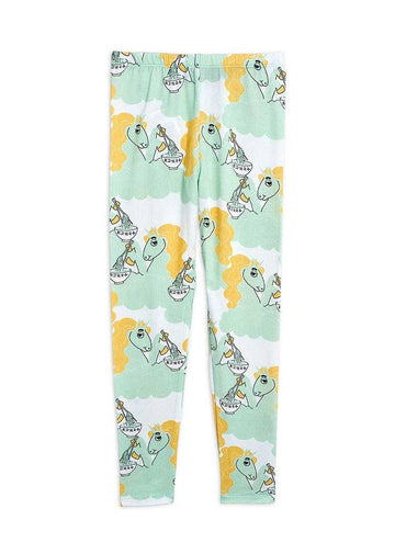 Unicorn Noodles Leggings - Green Pants Mini Rodini