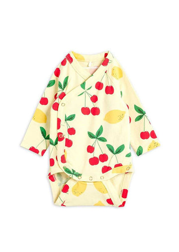 Cherry Lemonade Wrap Bodysuit Layette Mini Rodini