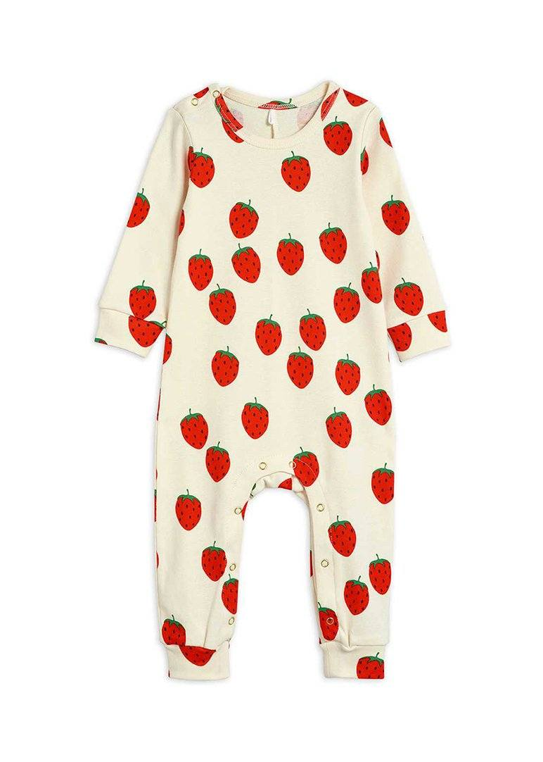 Strawberry Jumpsuit onesie Mini Rodini