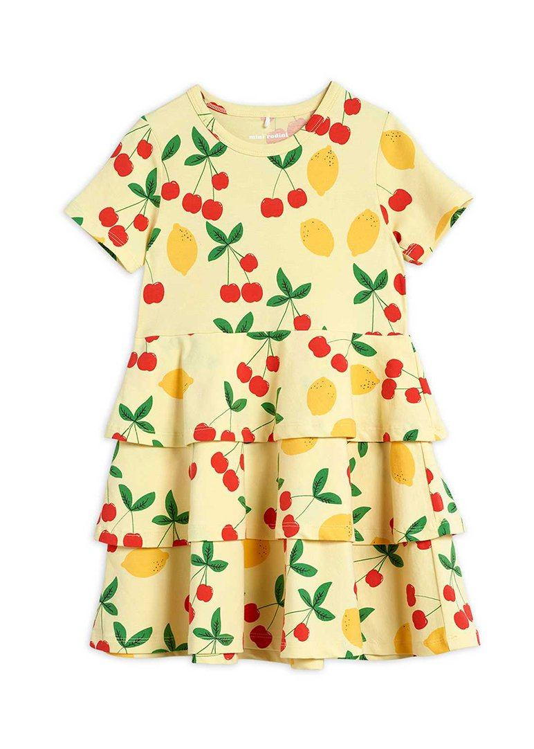Cherry Lemonade Short Sleeve Dress Dress Mini Rodini