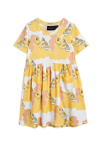Unicorn Noodles Short Sleeve Dress Dress Mini Rodini