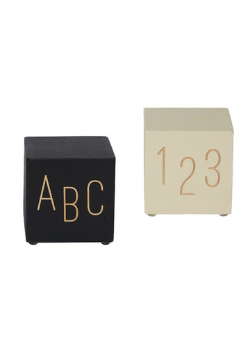 Black and White Bookends ABC-123 Decor Tree by Kerri Lee