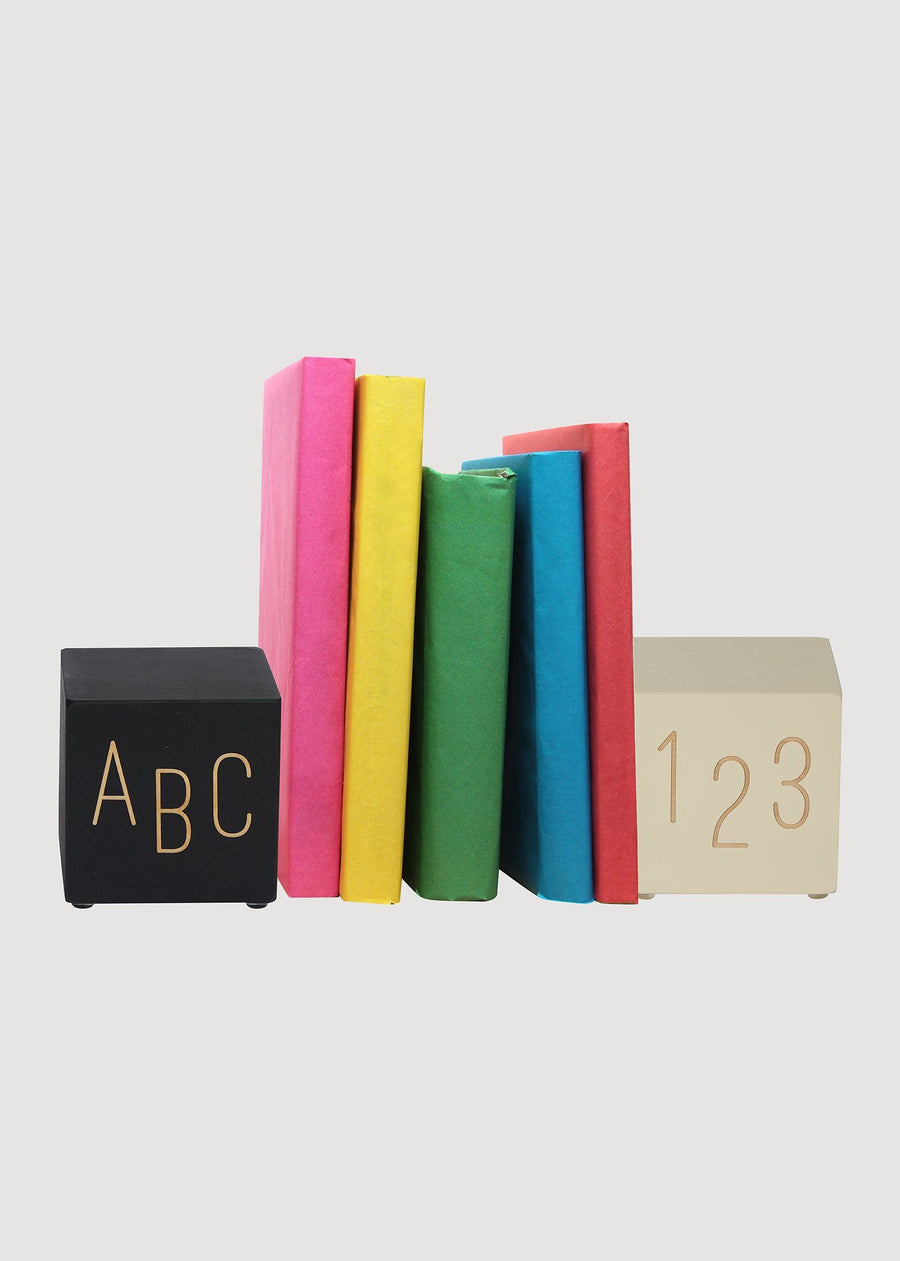 Black and White Bookends ABC-123 Accessory Tree by Kerri Lee