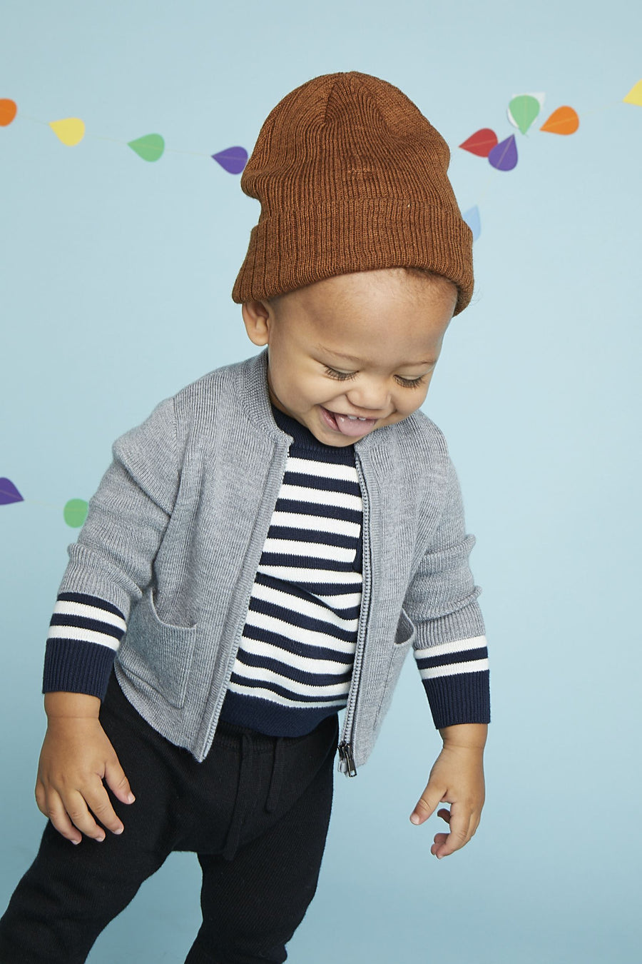 Billie Play Set Top - Navy/White Stripe Top Giggle