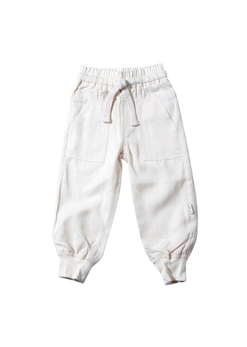 Asher Jogger Pant - Ivory Bottom Giggle