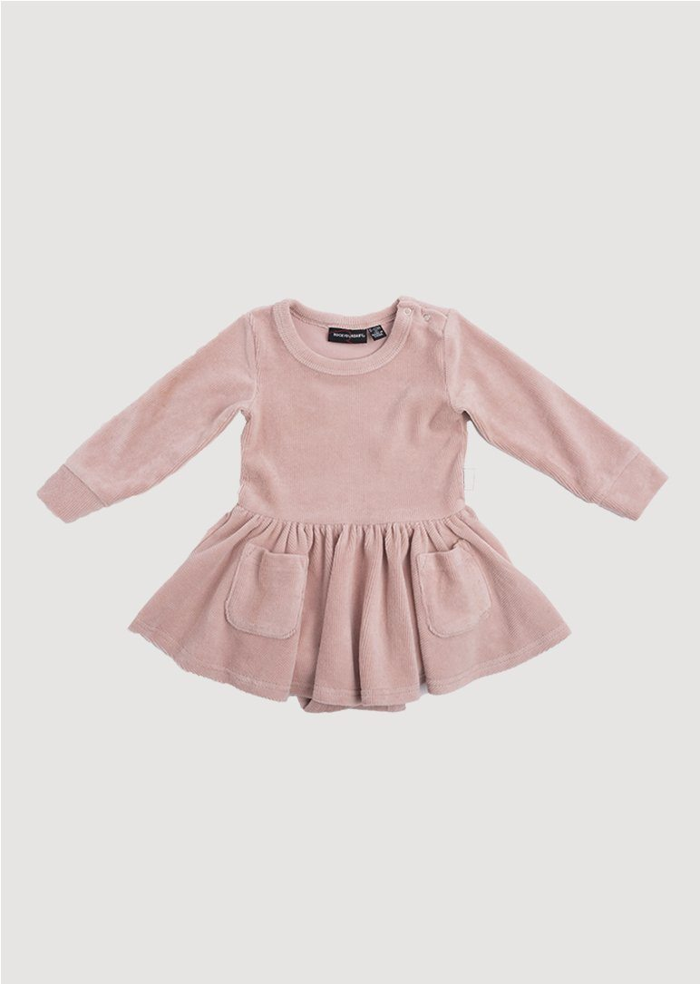 pink corduroy dress Dress Rock Your Baby