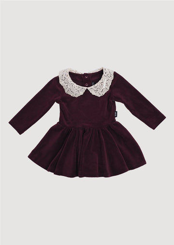 lace collar velvet dress Dress Rock Your Baby