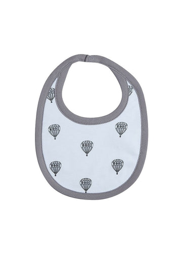 Grey Hot Air Balloon Bib Bib Giggle