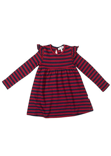 Reagan Stripe Dress - Red Dress Giggle