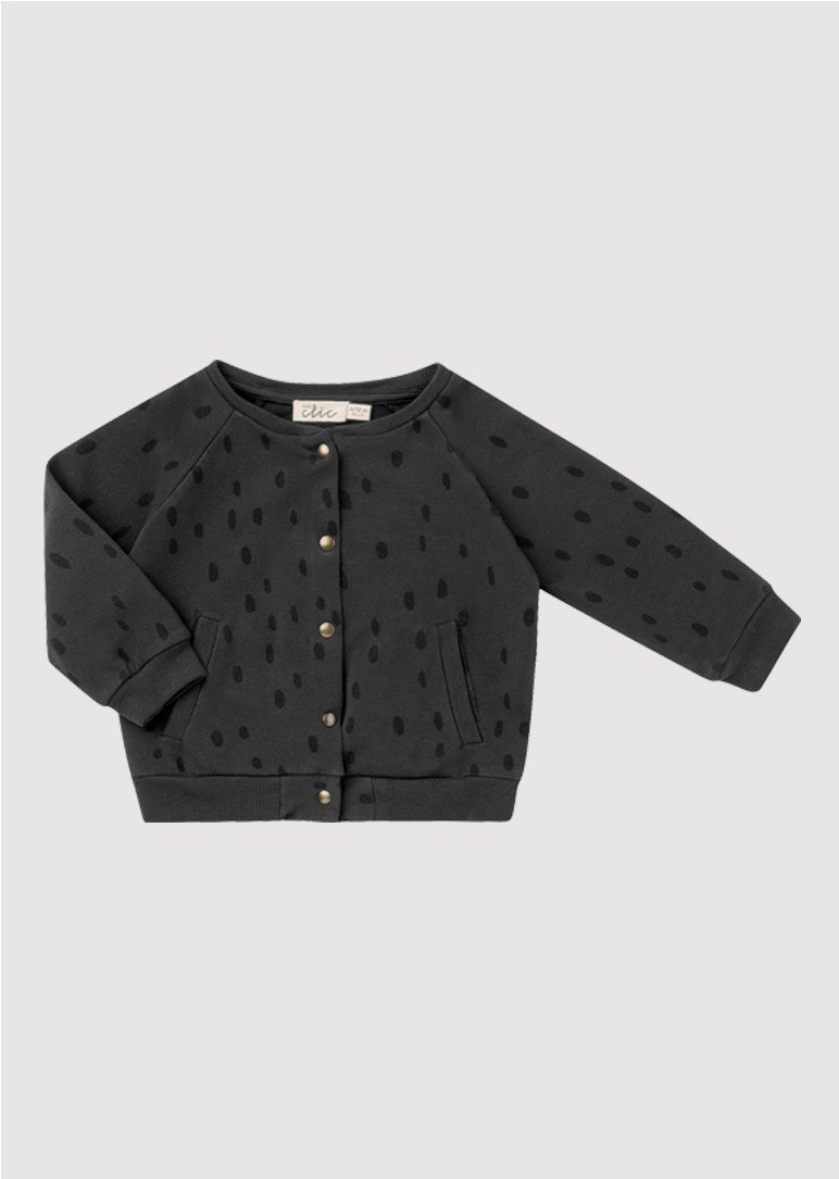 spots black sweater Outerwear Baby Clic