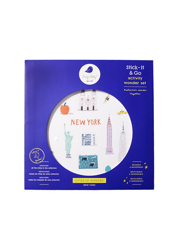 Cities of Wonder Stick It & Go Activity Set - New York Toy Jaq Jaq Bird