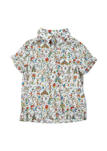 Cameron Liberty Print Button Down Shirt - Circus Top Giggle