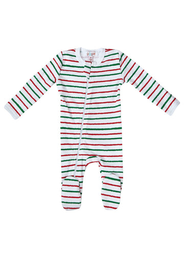 Christmas Stripe Footie Pajamas Giggle