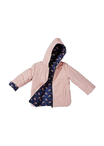 Austin Reversible Fashion Jacket - Navy Rainbow Outerwear Giggle