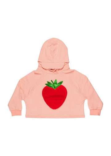 Lucca Strawberry Hoodie - Pink Sweater Wauw Capow