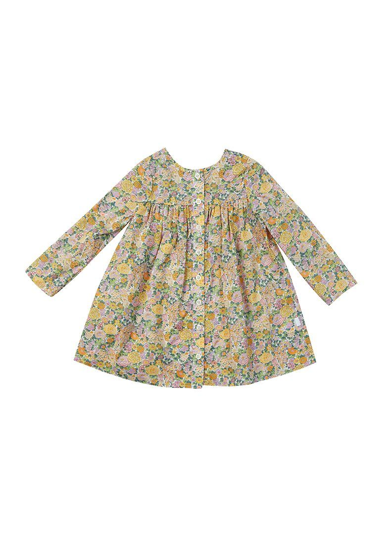 Darian Liberty Print Dress - Yellow Floral dress Giggle