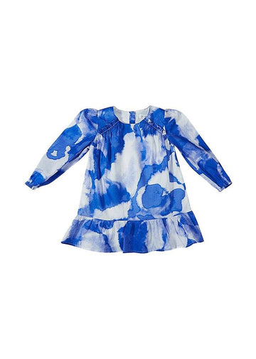 Blue Tie Dye Dress Dress Giggle