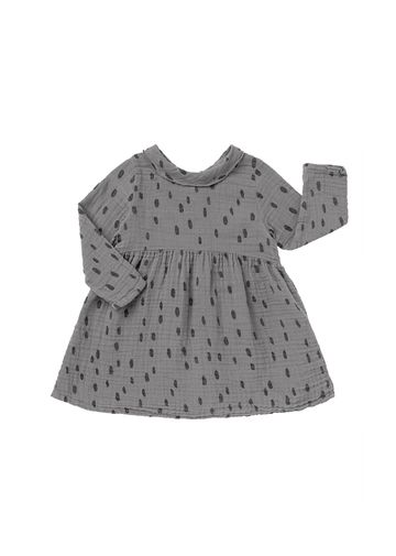 spots lead grey dress Dress Baby Clic