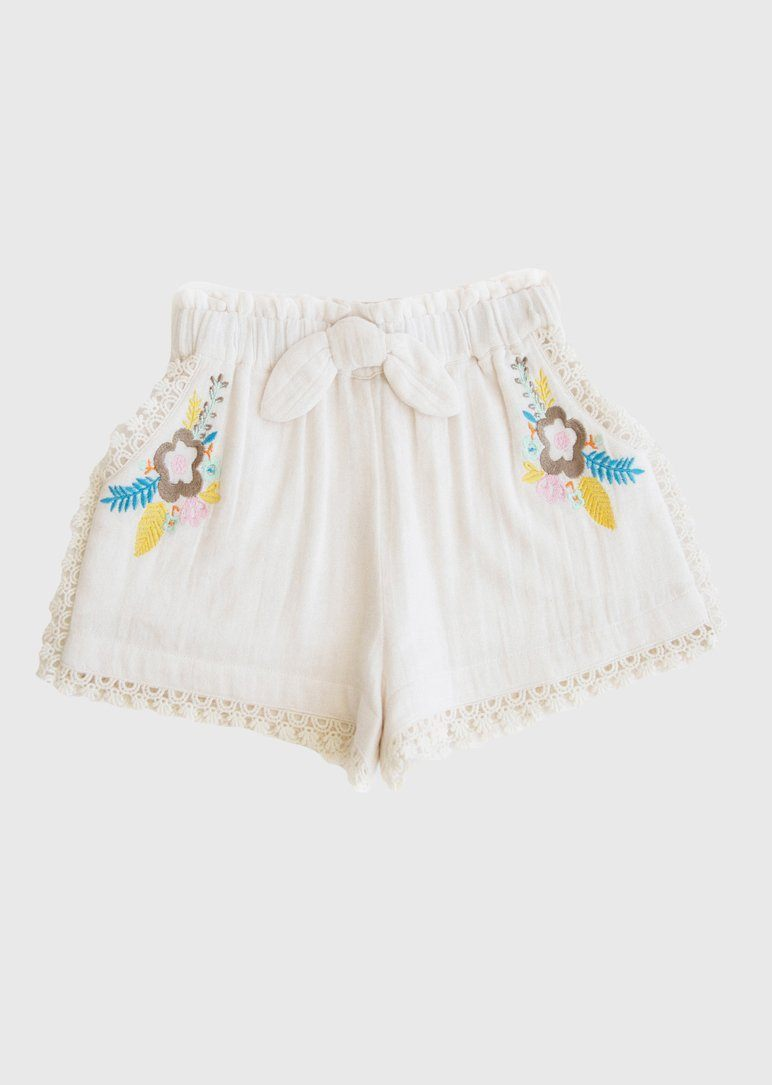embroidered shorts Bottom Lali Kids