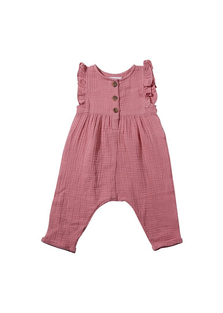 Emma Ruffle Jumpsuit - Pink jumpsuit Giggle