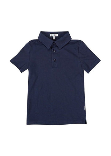 Ashton Short Sleeve Polo - Navy Top Giggle