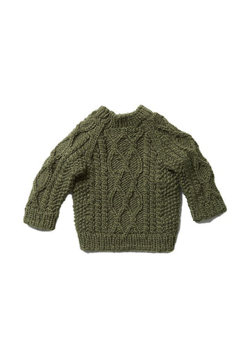 Fisherman Sweater - Rifle Green Sweater The Blueberry Hill