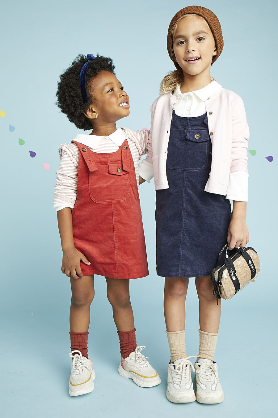 Navy Overall Dress Dress Giggle