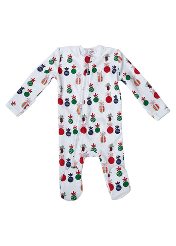 Giggle Ornament Footie Pajamas Giggle
