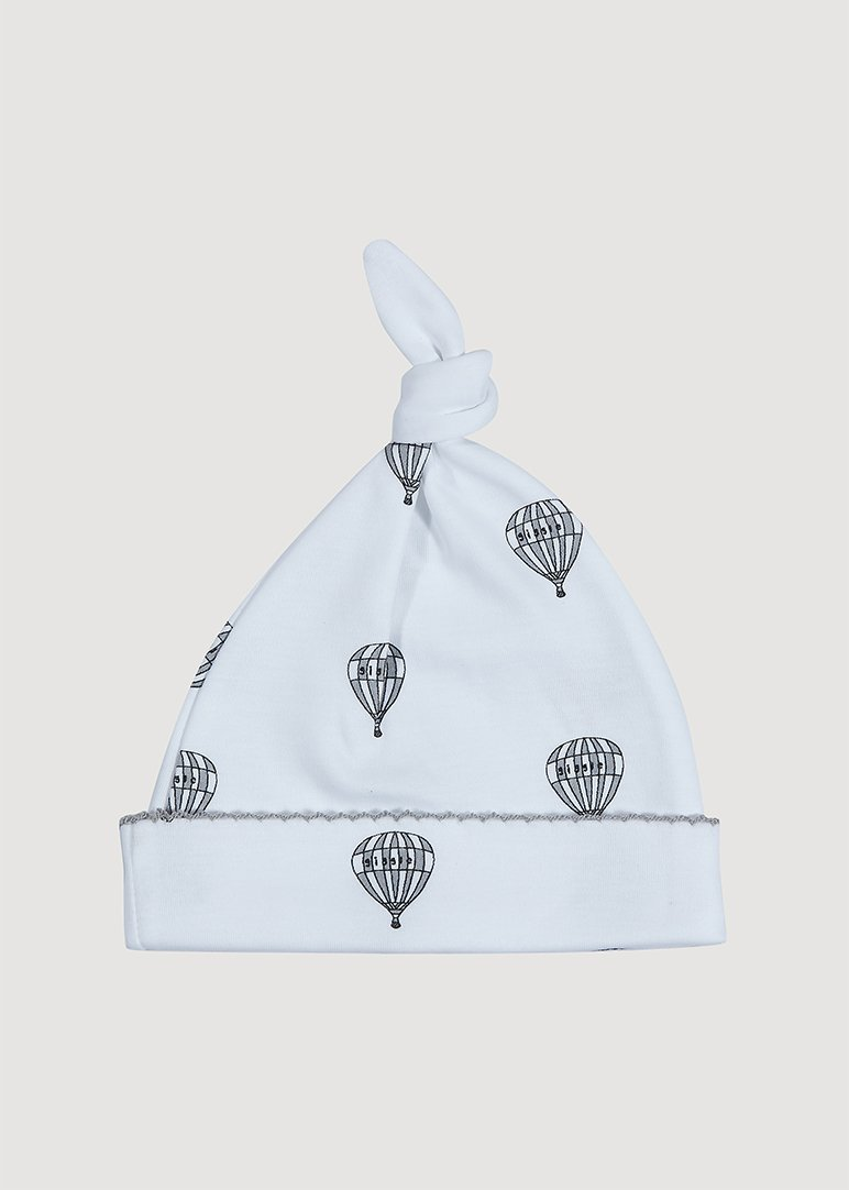 Hot Air Balloon Grey Hat Hat Giggle
