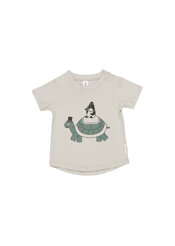 Turtle and Penguin Tshirt Top Huxbaby